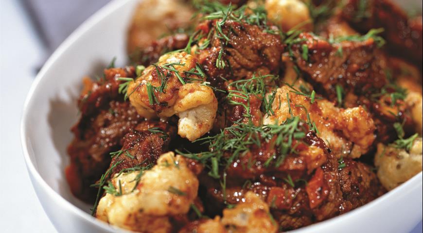 Рецепт Рагу из телятины с клецками