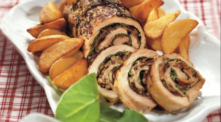 Рецепт Рулет из телятины с картофелем