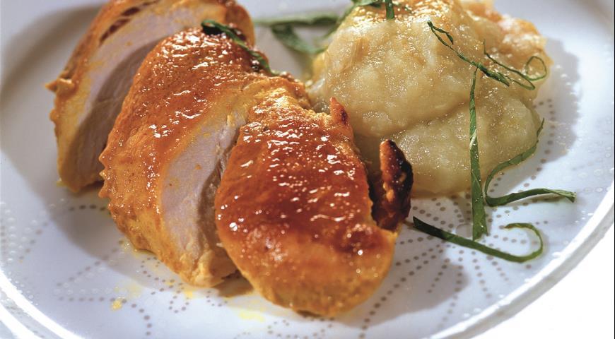 Рецепт Куриные грудки с яблочным пюре