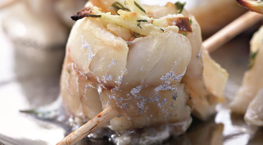 Рецепт Рыбные рулеты с яблоками