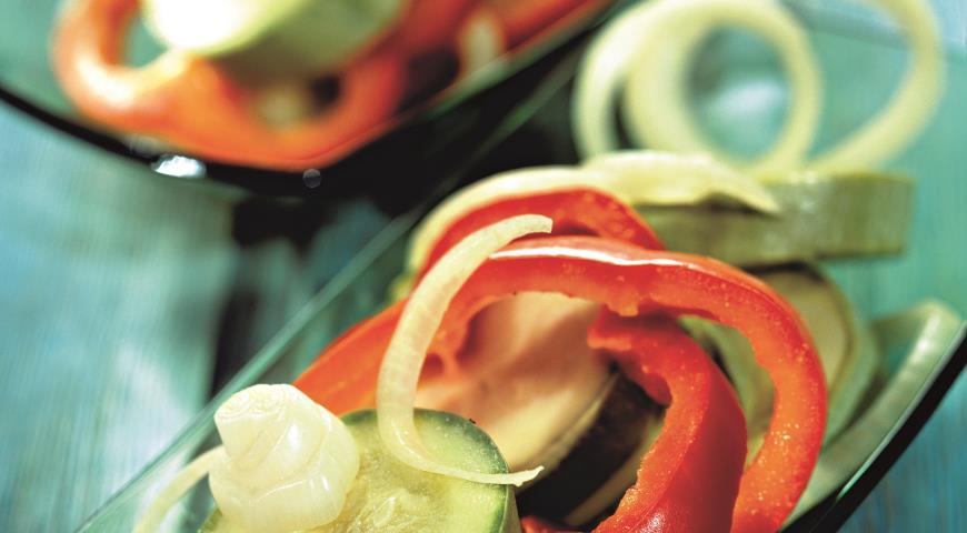 Рецепт Салат Кабачки, маринованные со сладким перцем