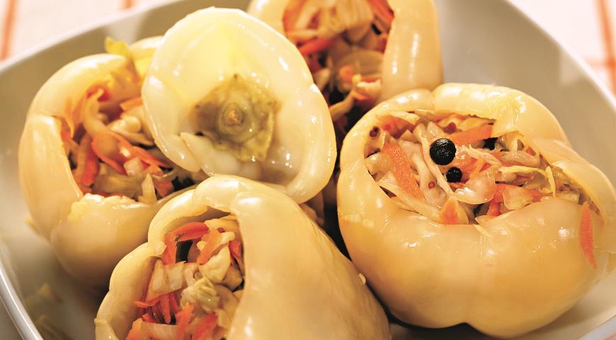 рецепт перец болгарский фаршированный капустой