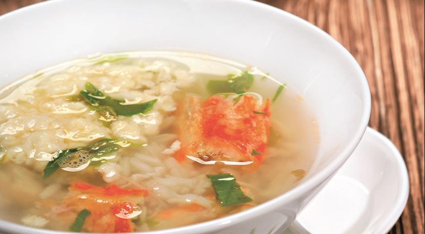 Рецепт Кани дзосуй, японский суп с крабами и яйцами