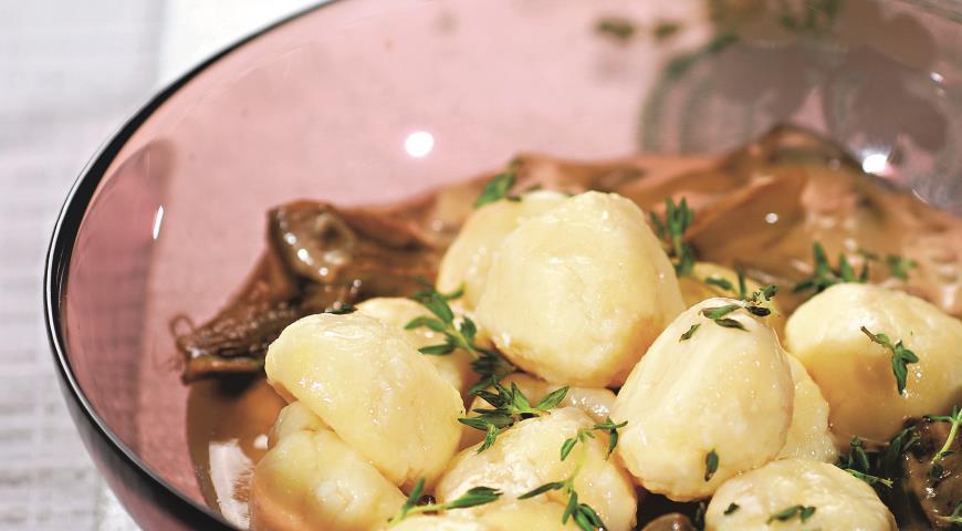 Рецепт Творожные ньокки с грибным соусом