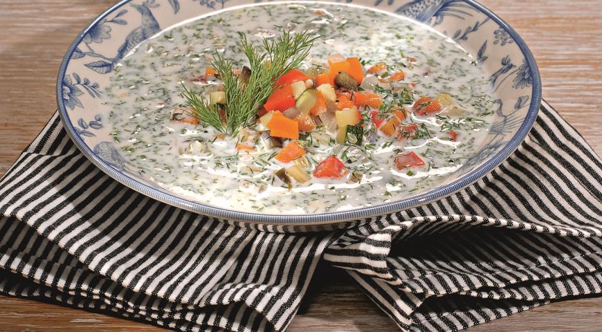 Рецепт Кефирный суп с овощами