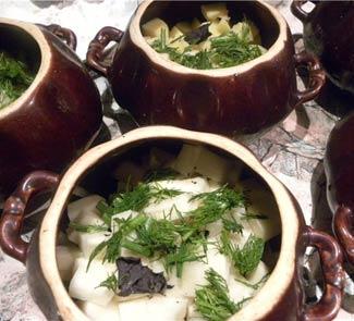 Рецепт Баранина в горшочках по-ирландски