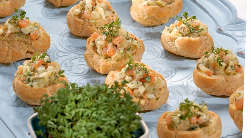 Рецепт Профитроли с картофельным салатом