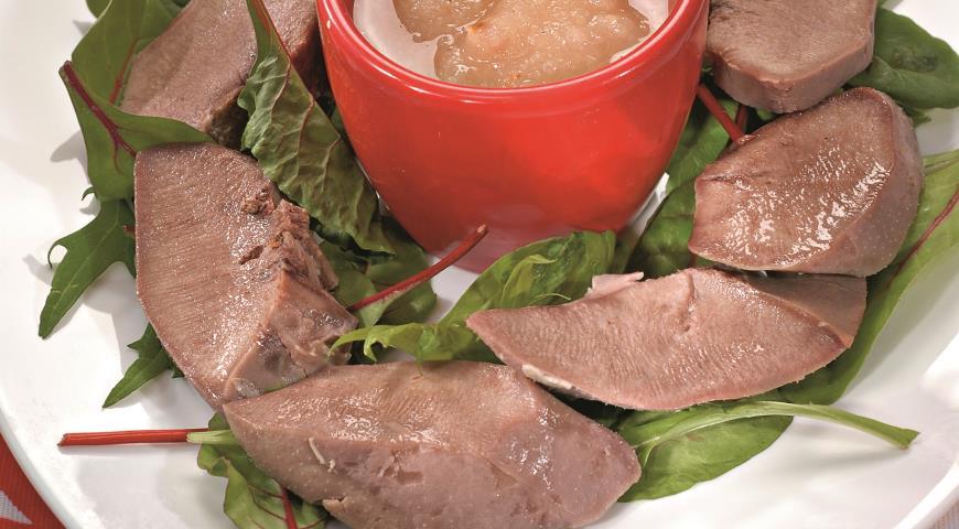 Рецепт Свиные языки с яблочным соусом