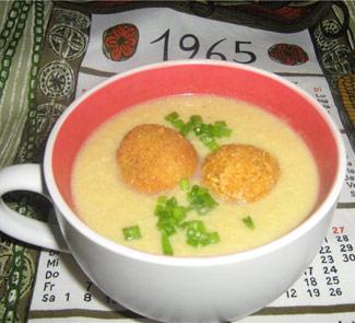 Рецепт Овощной крем-суп с картофельными шариками