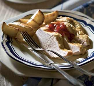 Рецепт Запеченная грудка индейки с картофелем
