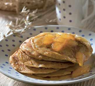 Рецепт Ржаные блинчики с яблоками и медом