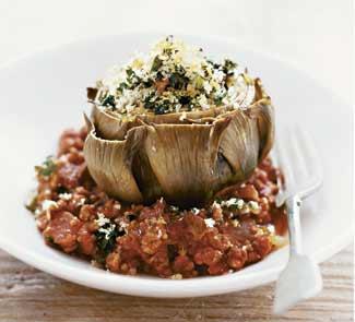 Рецепт Фаршированный артишок с мясным рагу