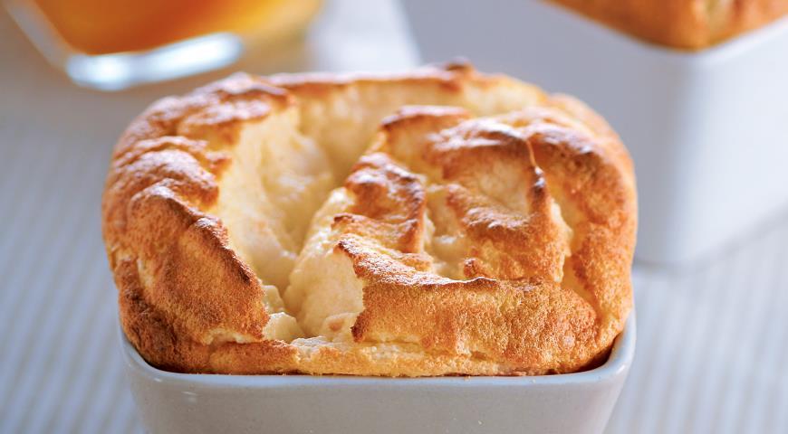 Рецепт Суфле из маасдама с имбирем и абрикосами