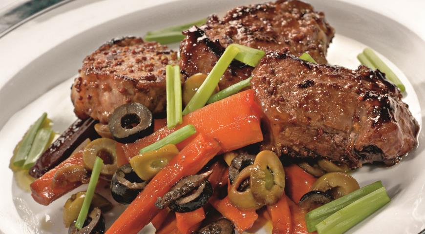 Рецепт Баранина с пряной морковью