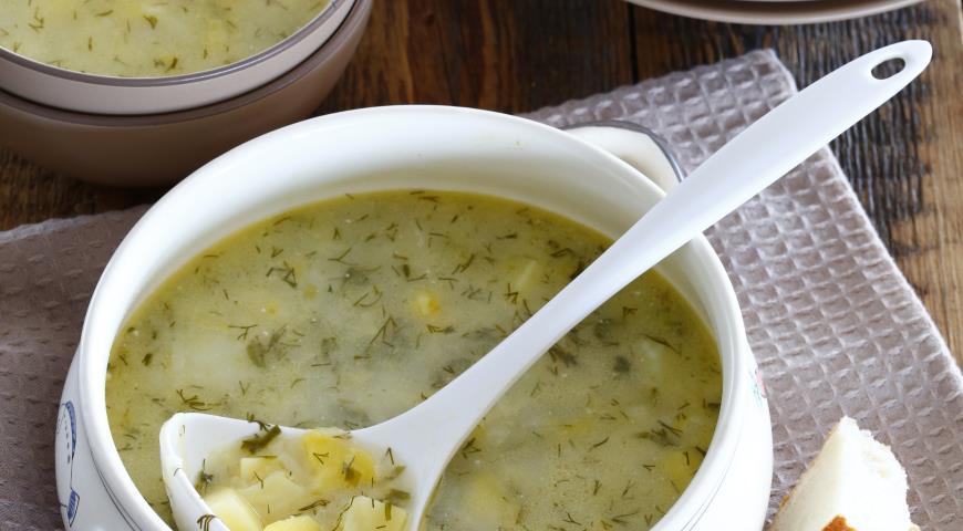 Рецепт Суп из молодого картофеля с укропом