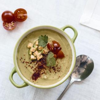 Рецепт Холодный суп из авокадо