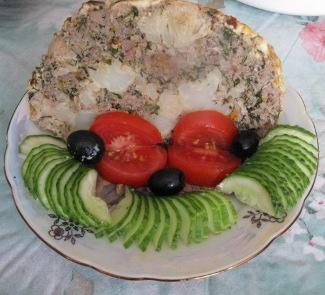Рецепт Фаршированная цветная капуста, запеченная под майонезом
