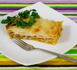 Рецепт Пряная овощная лазанья с тыквой