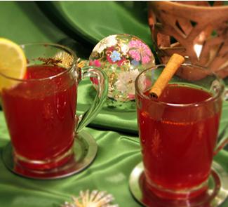 Рецепт Пряный клюквенный чай