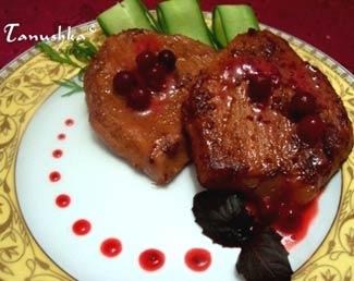 Рецепт Свинина под клюквенным маринадом