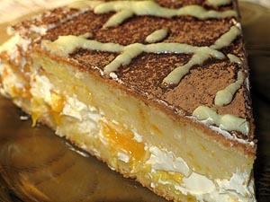 Рецепт Творожно-апельсиновый пирог