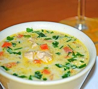 Рецепт Сливочный суп с курицей в итальянском стиле