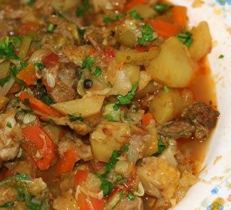 Рецепт Рагу из молодых овощей с бараниной