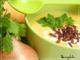 Рецепт Тыквенный суп-пюре с беконом
