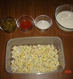 Рецепт Сельдь в сметане с яблоками