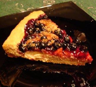 Рецепт Ароничный пирог (с черноплодкой)