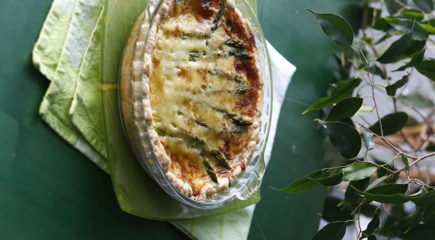 Рецепт Пирог со спаржей и шпинатом