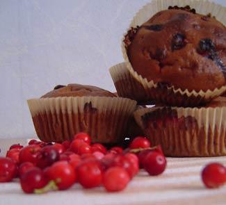 Рецепт Кексы с брусникой