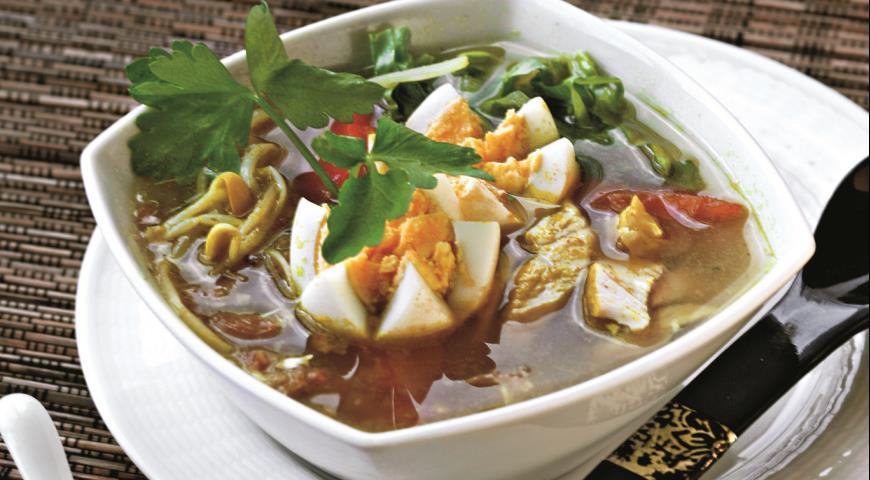 Рецепт Сото айям, куриный суп
