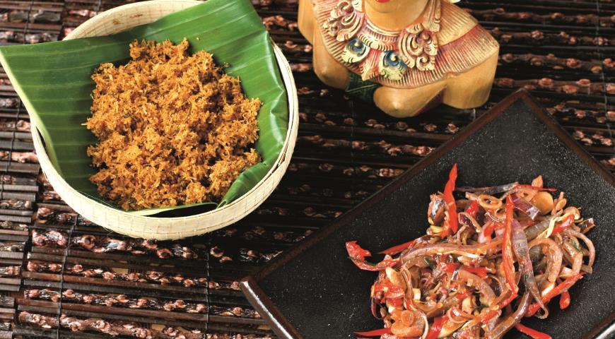 Рецепт Серунденг, острый тертый кокос