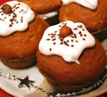 Рецепт Медовые кексы с клюквой