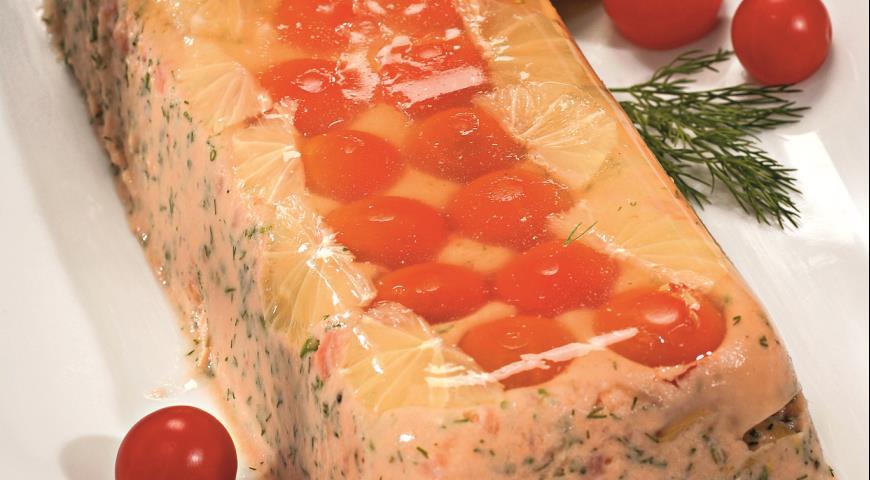 Рецепт Закуска из лосося с помидорами