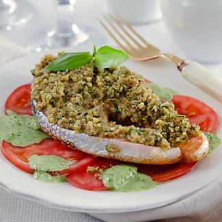Рецепт Семга в соусе из шпината в мультиварке
