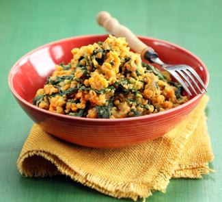 Рецепт Теплый салат из чечевицы и тыквы