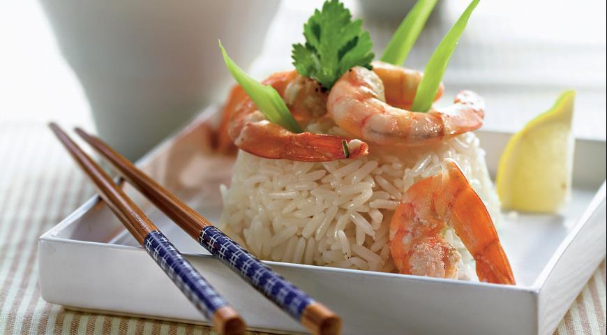 Рецепт Креветки на пару с жасминовым соусом