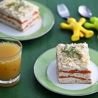 Рецепт Террин из курицы с морковью в мультиварке