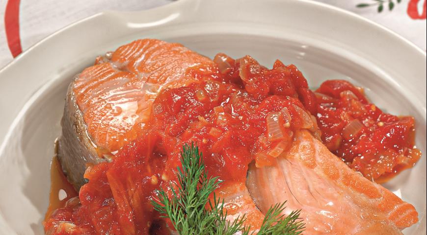 Рецепт Форель в томатном соусе