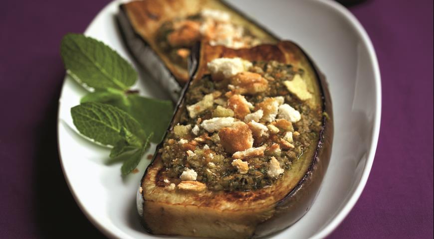 Рецепт Холодная закуска из баклажанов с мятой
