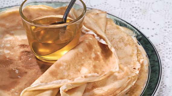 Блины с медом рецепт с фото