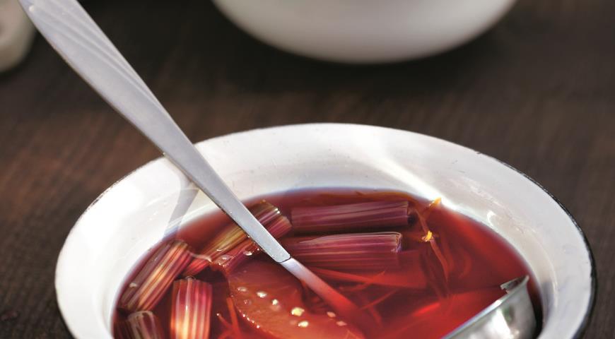 Рецепт Варенье из ревеня с зелеными яблоками и имбирем