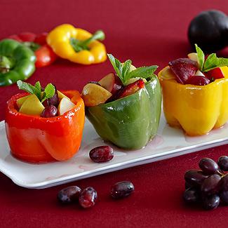 Рецепт Перцы, фаршированные фруктами в мультиварке
