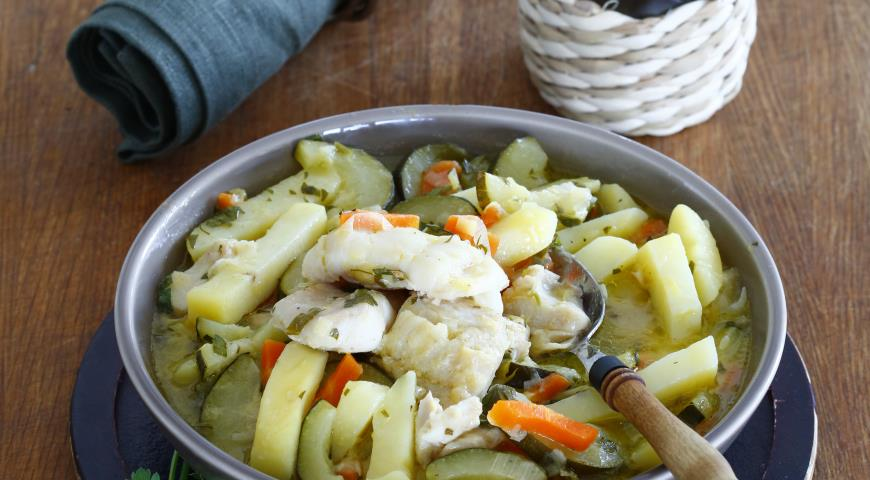 Рецепт Рагу из трески с овощами