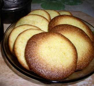 Рецепт Апельсиновое печенье из поленты к кофе