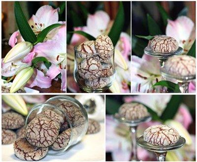 Рецепт Печенье Шоколадно-ореховые трещинки