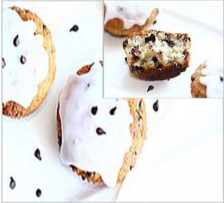 Рецепт Творожно-банановые кексы с шоколадными чипсами