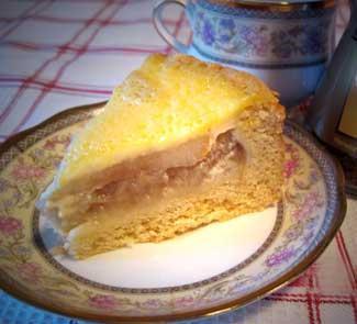 Рецепт Пирог с запеченными грушами и медом